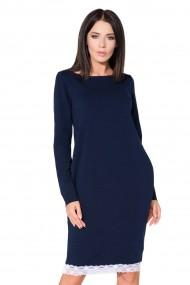 Tumši zila, eleganta kleita