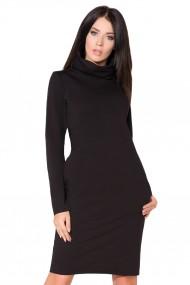 Melna kleita ar augstāku apkaklīti