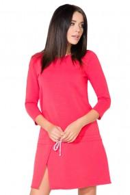 Koraļļu krāsas, sportiska stila kleita